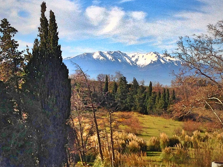 The Canigou overlooking Perpignan
