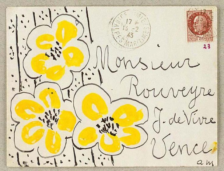 gazophylacium:  Envelope by Henri Matisse.                                                                                                                                                                                 More