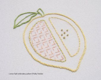 Hatchet Orange One of five in the Chopped Fruit range  A juicy bright orange, sliced in half.  This design would work well incorporated into kitchen décor, stitched on to tea towels, aprons, potholders or oven mitts.  The design measures 3¼ x 3¾ inches (8.5 x 10cm).  Need help with a stitch? Try my Stitch Directory on www.kellyfletcher.blogspot.com or my Stitches board on www.pinterest.com/kellylfletcher/stitches.  This is a five-page digital pattern in PDF format.  The pattern incl...