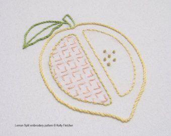 Scandi Fruit modern Scandinavian hand by KFNeedleworkDesign