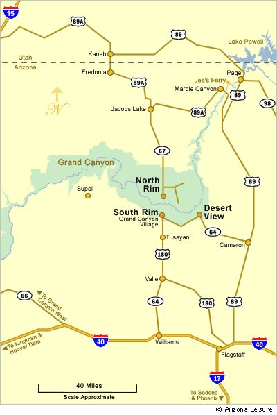 Grand Canyon National Park East Rim Area Map. @Kristen Thomsen meet you at Desert View or Marble Canyon!