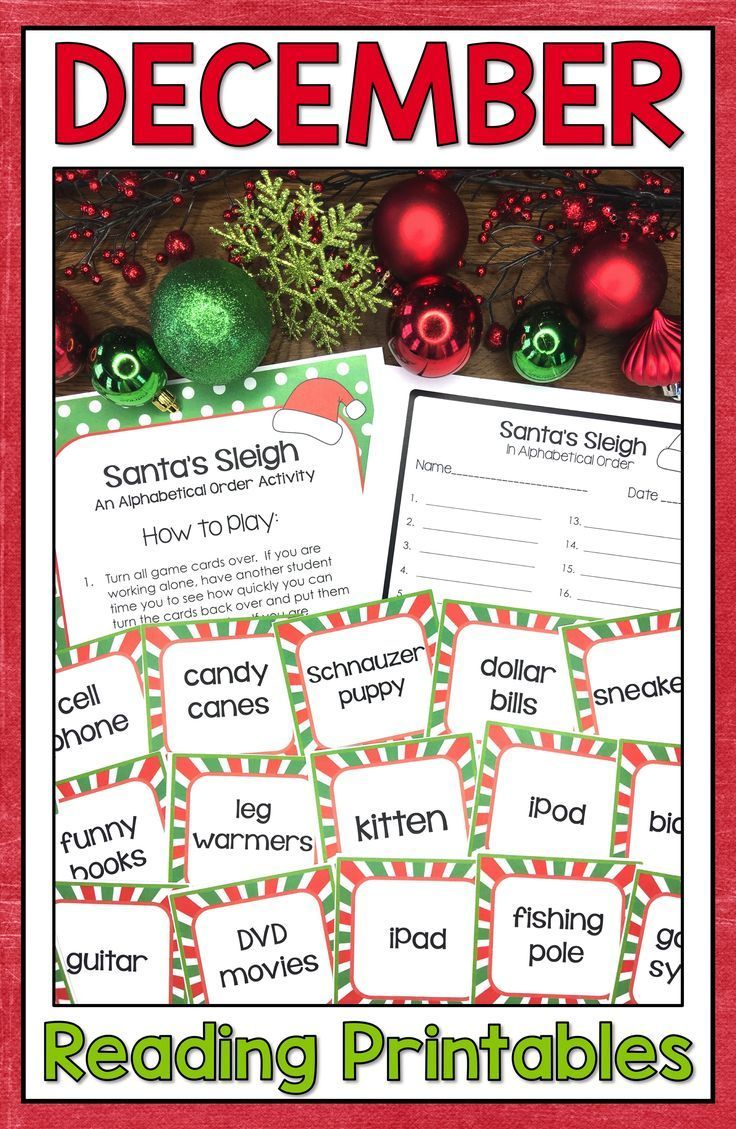 December Reading Activities And Christmas Reading Activities Are Fun And Easy Wi Christmas Reading Christmas Reading Activities Christmas Reading Comprehension Christmas comprehension worksheets 5th