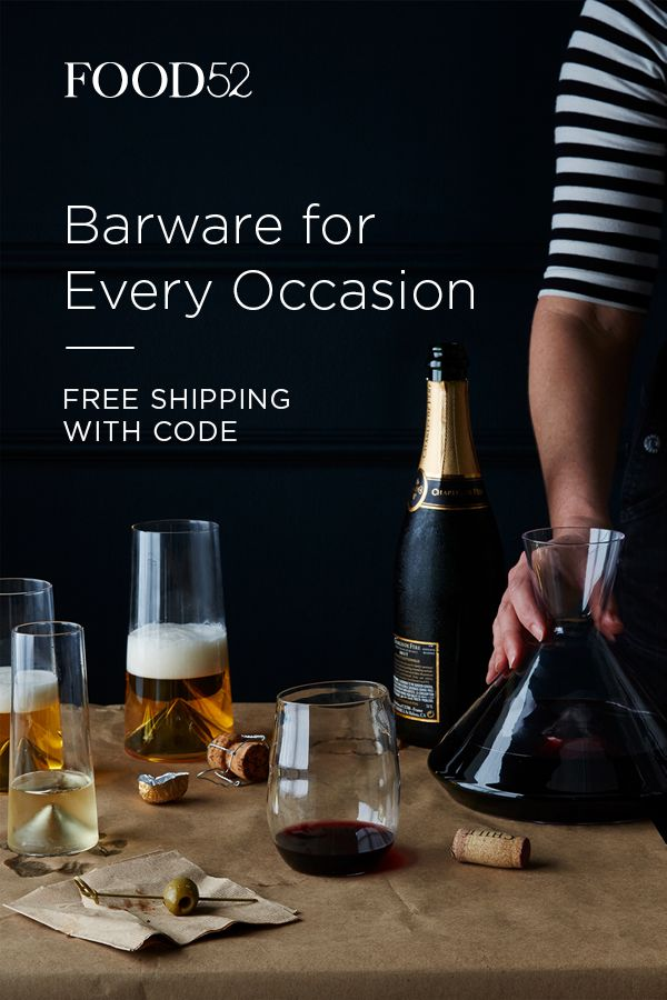 No matter what your drink, Food52 has the glasses for beer, wine, and beyond. Shop everything you need for happy hour (like handblown glassware and shiny accessories) at food52.com.  Code: SHIPFREE   Offer: Free Shipping on orders of $100+   Exclusions: All Zwilling, All Demeyere, Blue Bottle Coffee Subscription, Food52 Gift Cards, Vintage, Copper, Brad Sherman for Food52.  Valid through:  02/13/2017 - 04/15/2017