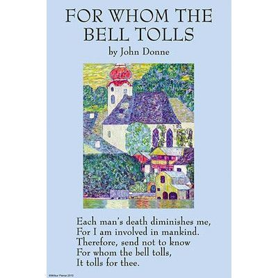 Buyenlarge 'For Whom the Bell Tolls' by John Donne Vintage Advertisement