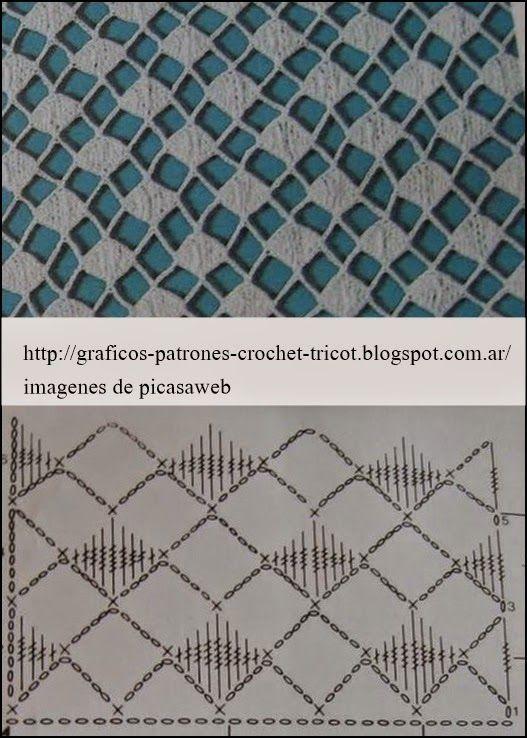 17 best images about puntos en crochet on pinterest - Patrones de ganchillo ...