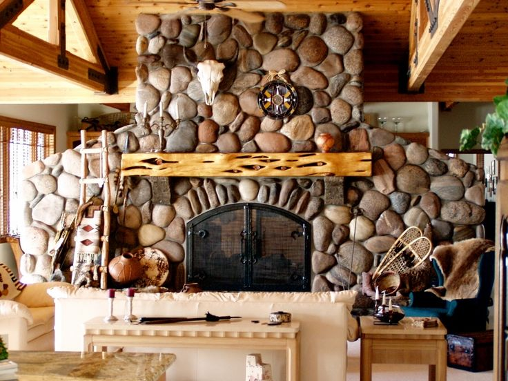 Morgan Creek River Rock Fireplace Ideas Pinterest