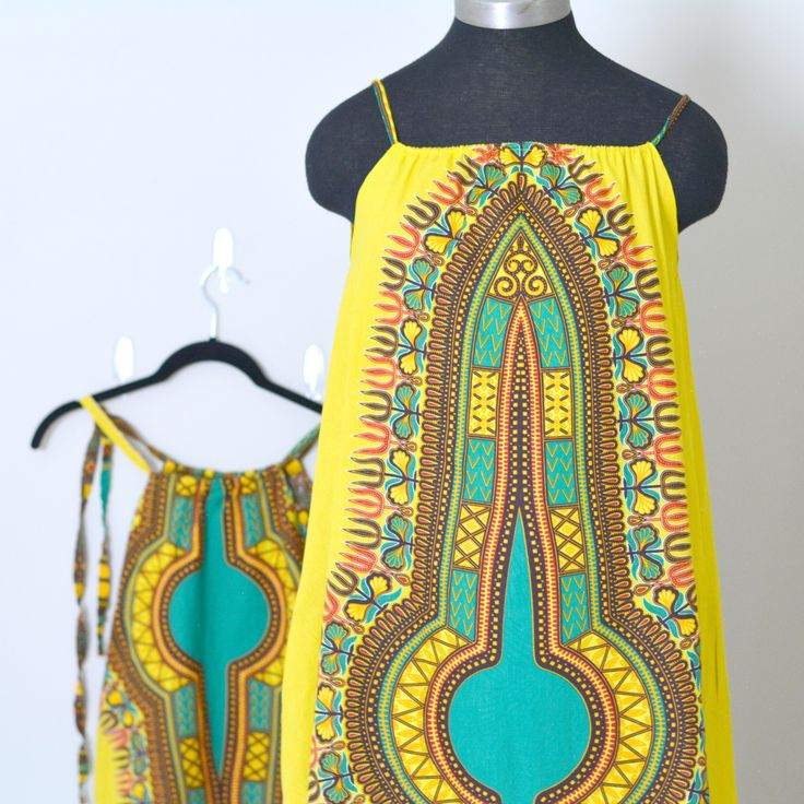 mommy and daughter matching dashiki maxi dresses, diy african print maxi dress, how to make a shoulder tie maxi dress, loose fitting, spaghetti strap maxi dress with side pockets, african dashiki maxi dress for summer, spaghetti strap maxi dress, diy african print dress, maxi dress tutorial, mommy and me matching maxi dress tutorial, no pattern needed, diy sundress, diy summer dress