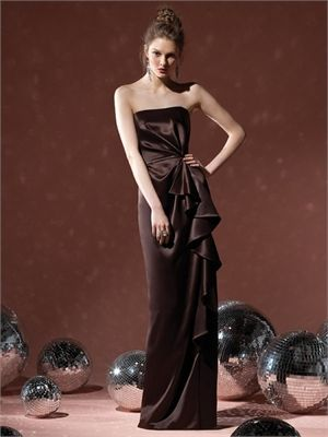 again diff. colour. Column Strapless With Ruche Dark Coffee Bridesmaid Dress BD0107 www.simpledresses.co.uk £107.0000