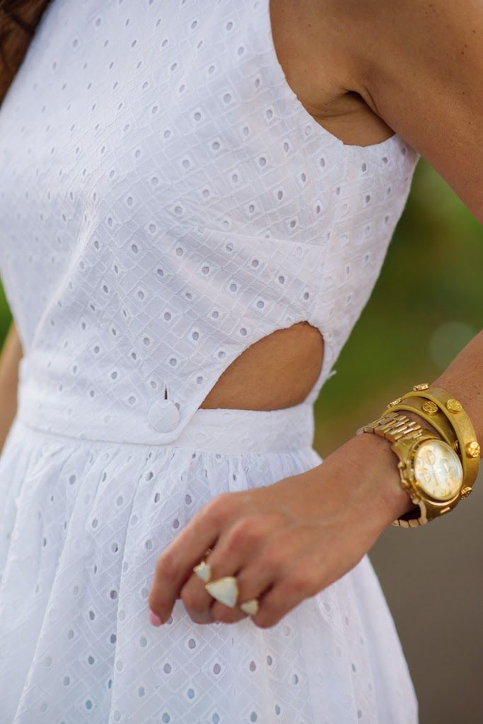 white eyelet dress | source: sequins & things