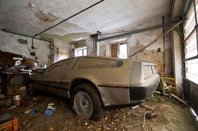 abandoned new car dealership | DeLorean found at an abandoned house