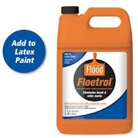 Add Floetrol to latex paint when painting cabinets, woodwork, and furniture of any