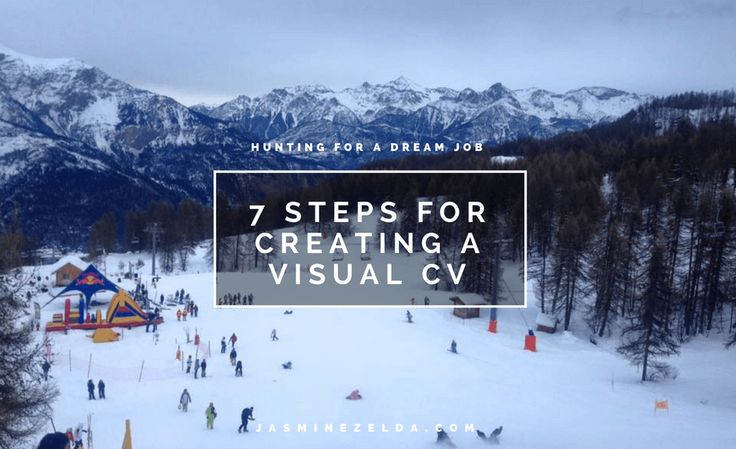 7 Steps for creating a visual CV - Jasmine Zelda