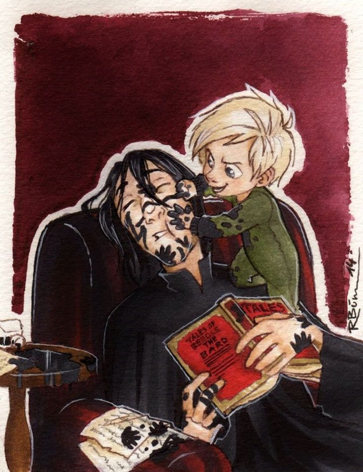 Babysitting by CaptBexx.deviantart.com on @deviantART uncle Snape and Draco