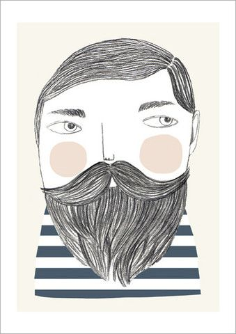 succulent beards.  frankie magazine posters - Google Search