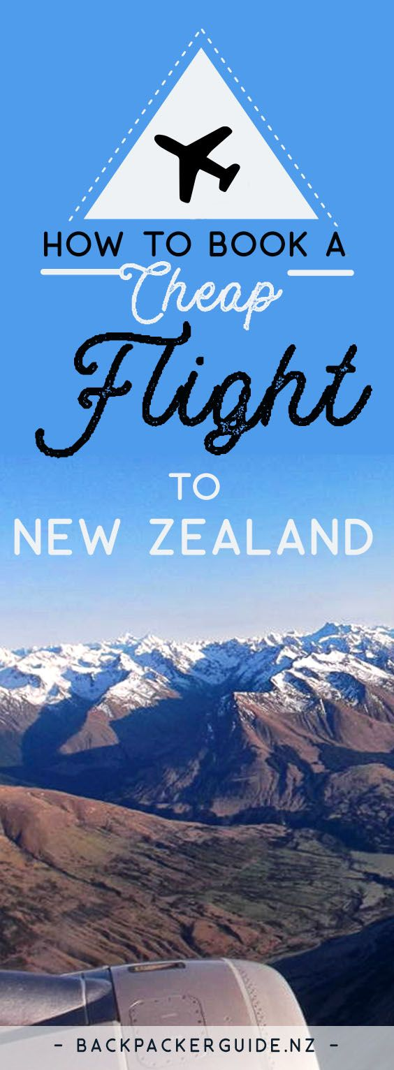 Save money on flight tickets to New Zealand.  The start of your gap year/working holiday/backpacking trip to New Zealand starts with the flight. Because these islands in the South Pacific are so far away from anywhere, except these very few countries, you can guarantee that the flight is going to take a good chunk from your bank account – bad times. However, as budget travel know-it-alls here at BackpackerGuide.NZ, we are going to give you some top tips to book a cheap flight to New Zealand…
