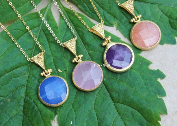 12 best wholesale necklaces images on pinterest collars 4 charm necklaces bulk wholesale bezel pendant necklace by kafika aloadofball Choice Image