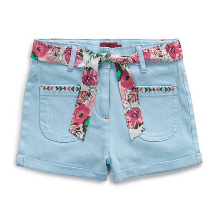 "Short twill ""Paradis tropical"""