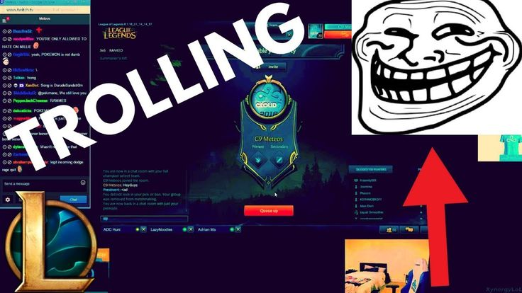 Trolling in League of Legends | The most douche bag thing to do