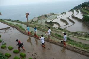 Darangee Village in Namhae Island in southeast Korea, near Busan