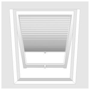 Faltstore Plissee für Dachfenster auf Maß - viele Farben