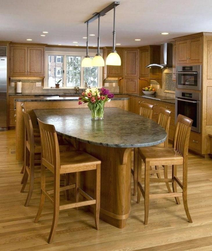 15 Beautiful Kitchen Island With Table Attached Home Design Lover Kitchen Island With Table Attached Dining Table Marble Kitchen Island Dining Table
