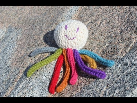 How to Loom Knit an Octopus Toy for Babies Tutorial - YouTube