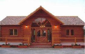 Planos Casas de Madera Prefabricadas: Plano de casas de madera prefabricada de 68 m2