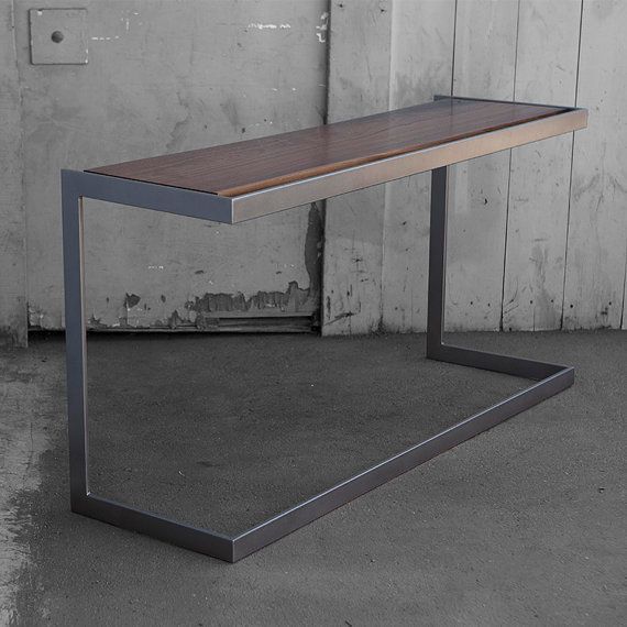 find this pin and more on wood metal furniture by lopezchris suspended wood and metal desk modern industrial design - Modern Desk Design