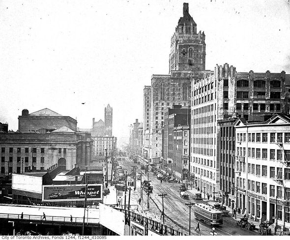 What Front Street used to look like in Toronto