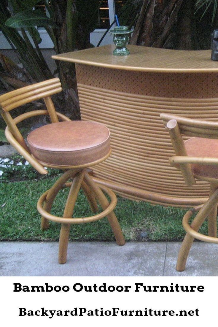 bamboo patio furniture on Bamboo Provides A Pure Beauty That Separates Itself From All Other Styles Of Wood It Is A One Of A Kind St Bamboo Outdoor Outdoor Furniture Backyard Furniture