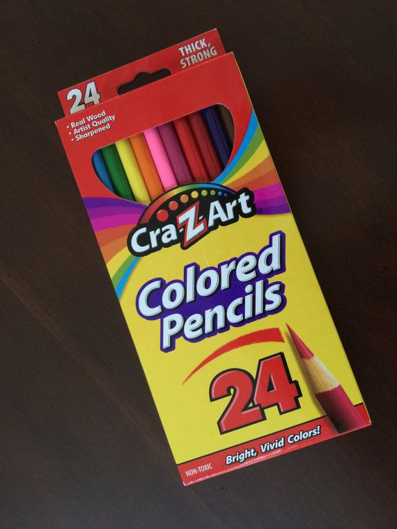 24 Colored Pencils Artist Quality Wooden Pencils by CatDKnits