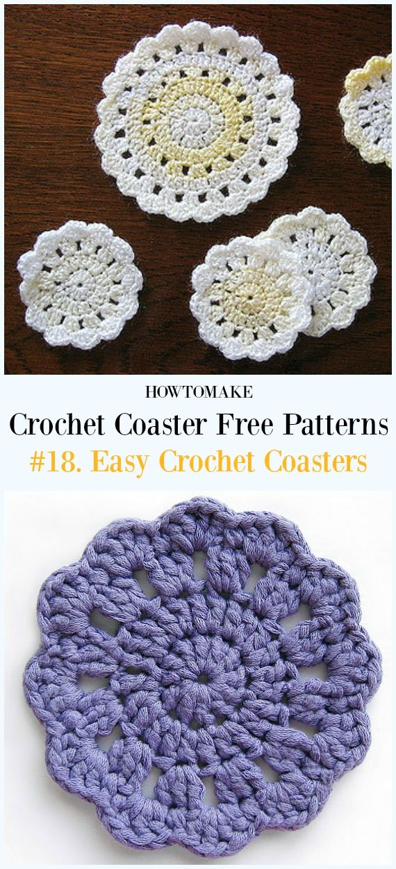 Easy Crochet Coaster Free Patterns Any Beginners Can Try Crochet