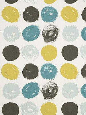Modern Geometric Fabric  Teal Yellow Grey by PopDecorFabrics, $26.00