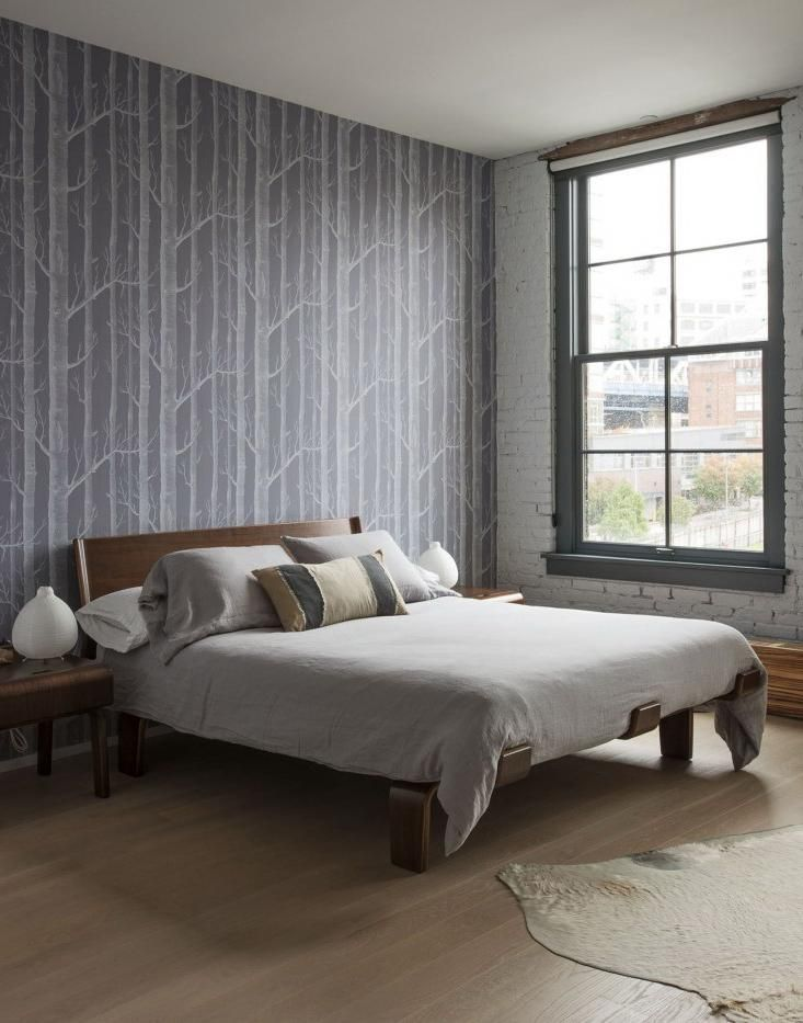 Best Grey Birch Wallpaper For Decorating Minimalist Bedroom 400 x 300