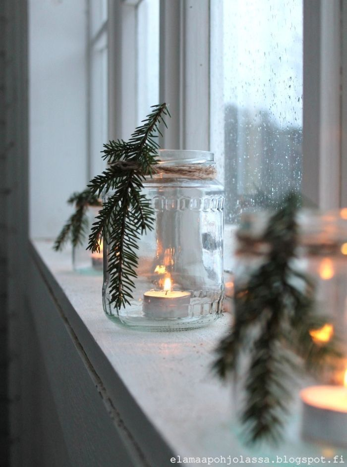 Beautiful and simple DIY Christmas Decor # Christmas – #DIY #simple # candles #s