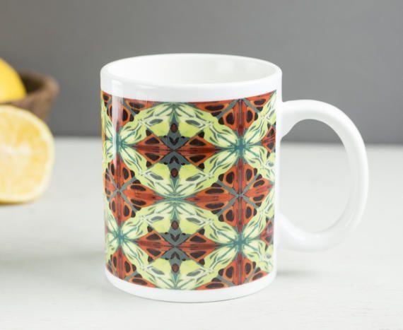 Tapestry mug Scottish mug kilt mug gift under 25 by DoodlePippin
