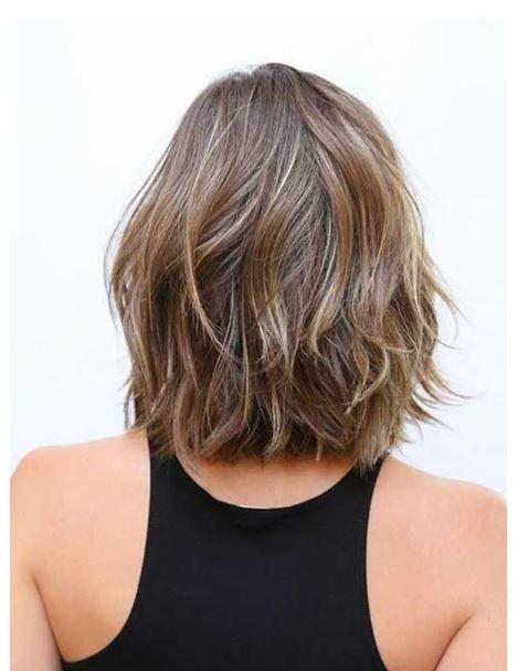2017 omuz hizası kısa saç modelleri
