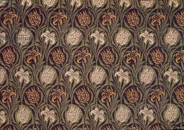 Fragment of Ingrain carpet, c.1870 (wool)