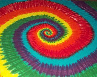 L'enveloppe de Tie Dye Blanket, 66 x 84, teinture tie à double coton literie, colorant de cravate, tie dye jet couverture, arc-en-ciel
