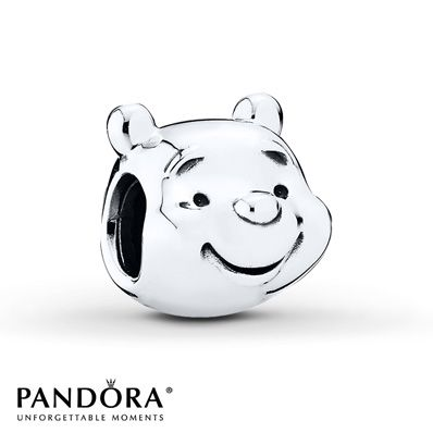 PANDORA Charm Disney, Winnie-The-Pooh Portrait/St. Silver OMG I need this so badly!!