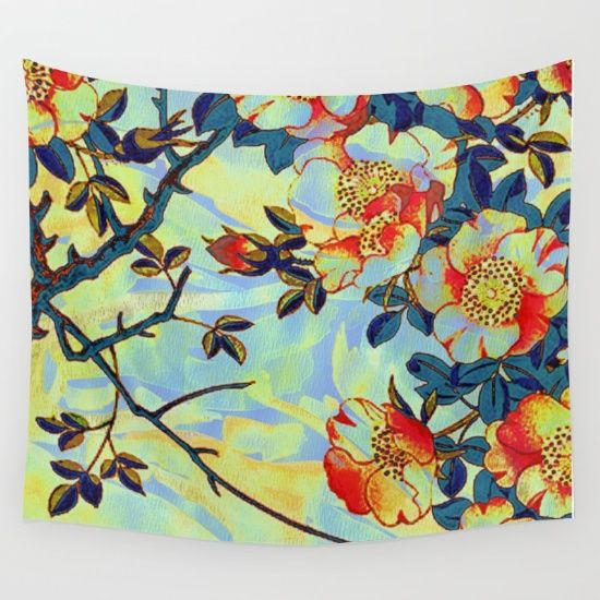 under the apple tree Wall Tapestry