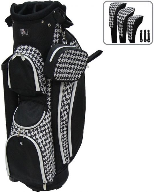 "Houndstooth RJ Sports Ladies LB-960 9"" Golf Cart Bag at one of the top shops for ladies golf bags #lorisgolfshoppe"