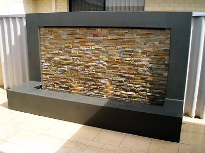 water wall for the back yard...