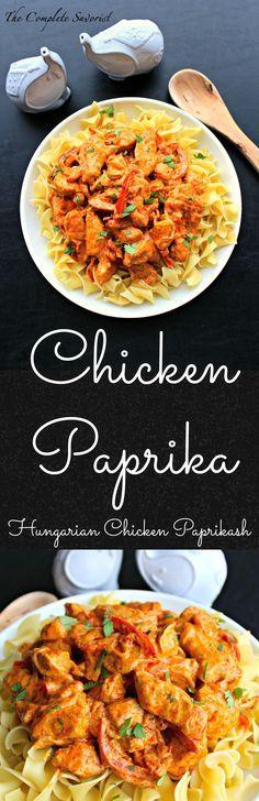 Chicken Paprika - Hungarian Chicken Paprikash ~ The Complete Savorist