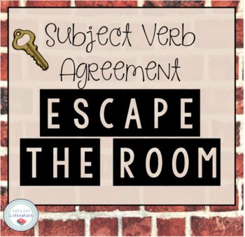 Students will review subject-verb agreement rules with these task cards that ask students to choose the correct verb and unscramble a secret phrase to escape the room. Each card gives students a code that they input to get a letter in order to unscramble the secret phrase.