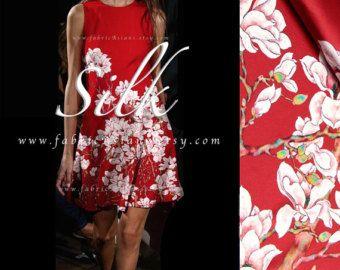 Rosso di seta 118x120cm Orchid tessuto - compro tessuto orientale. Consegna ESPRESSA