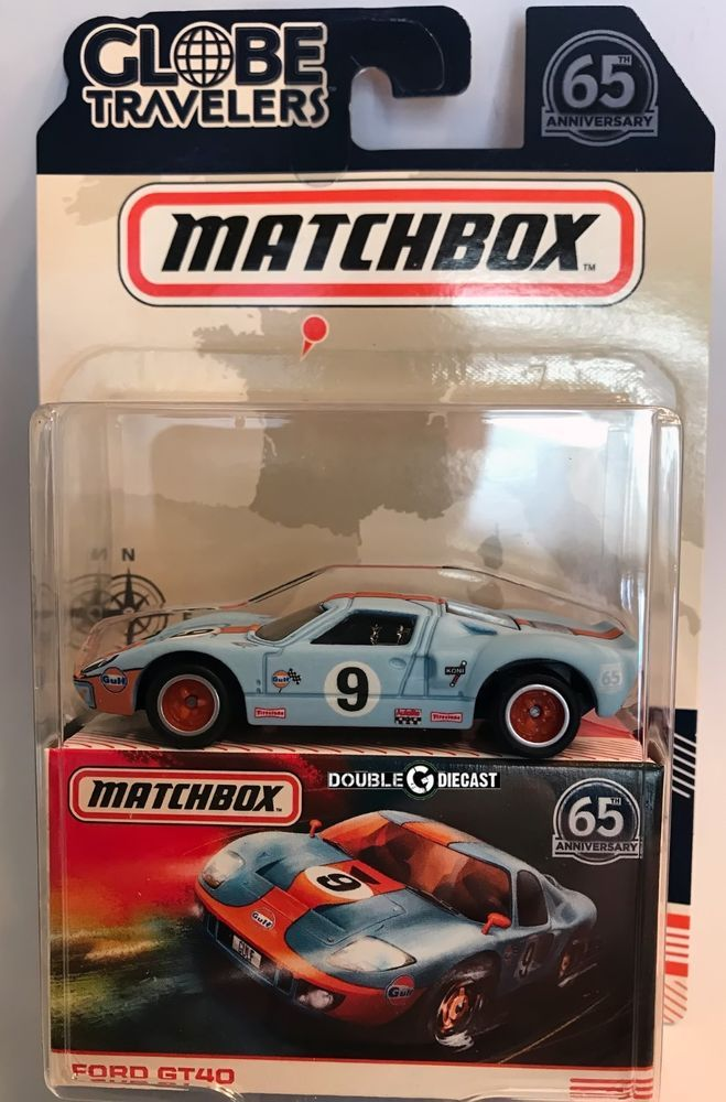 Ford Gt40 2018 Matchbox Globe Travelers W Real Riders Nice In