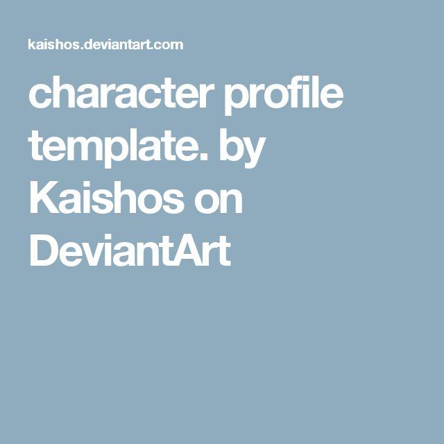 Mer enn 25 bra ideer om Character profile template på Pinterest - profile templates