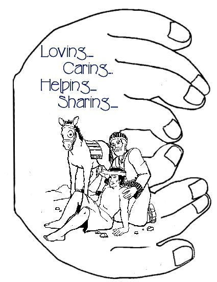 helping others coloring pages - 1000 images about good samaritan on pinterest