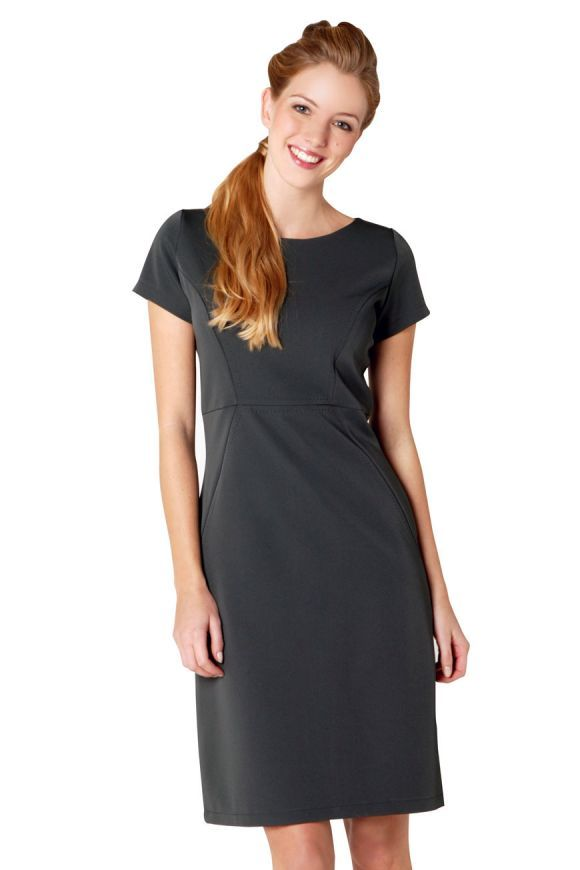 GLAMOUR Dress Charcoal ONLY £11.99* Sleek and sassy lines. Top stitching detailing. Simply classy! #beauty #spa #hairdressing #uniforms #offer *offer ends soon  http://www.salonweardirect.co.uk/Tunics/Glamour-Dress-CHARCOAL/prod_1441.html
